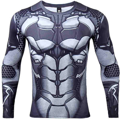 Batman 3D Printed T shirts Long Sleeve Compression Shirt New Cosplay 2017 - Newmeup