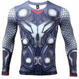 THOR 3D Printed T shirts Men Long Sleeve Compression Shirt New THOR Cosplay 2017 - Newmeup