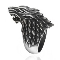 Game Of Thrones Ring Ice Wolf House Stark Of Winterfell Ring