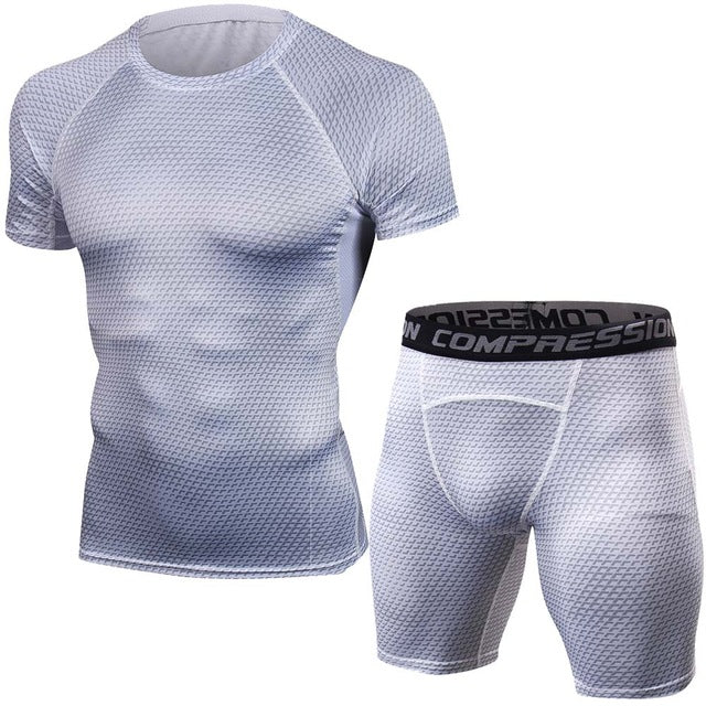 Snake 3D Mens Shirts Shorts Tight Set Quick Dry Costumes