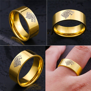 Game of Thrones ice wolf House Stark Ring