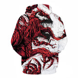 Venom Sweater Red Venom 3D Fashion Hoodie