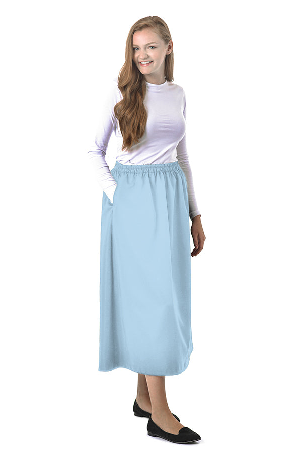 Summer Colors - Elastic Waist Skirt for Women