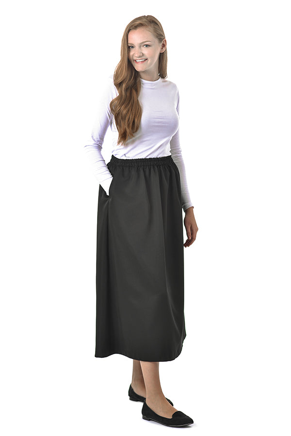 Women's Elastic Waist Skirt - Peachskin