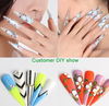 Lot de 500 faux ongles coupe stiletto TKGOES