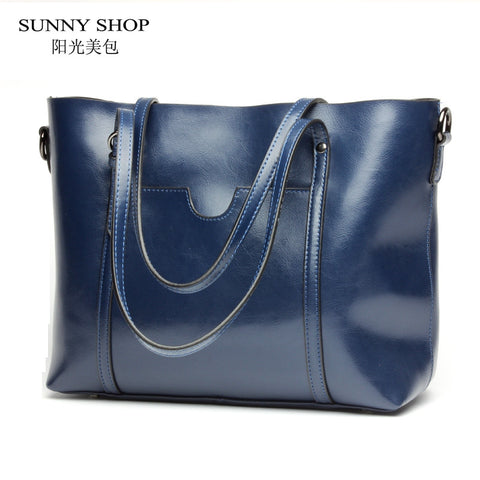 Grand sac à main en cuir de luxe SUNNY SHOP