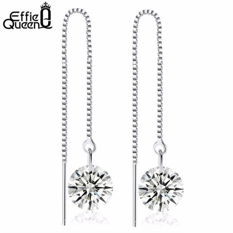 Boucles d'oreilles pendants zircon Effie Queen
