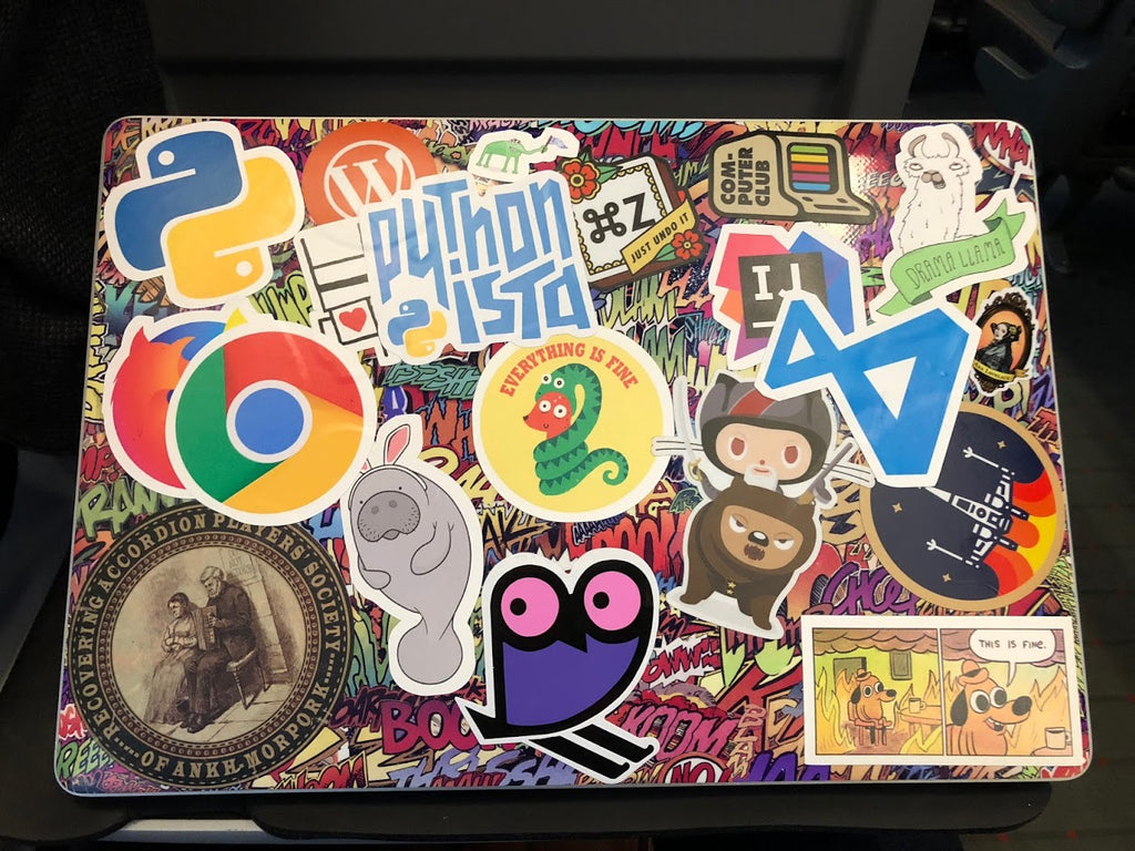Pythonista Sticker Laptop (Back)