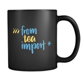 """from tea import *"" Python Mug (Black)"