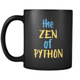 """The Zen of Python"" Mug (Black)"