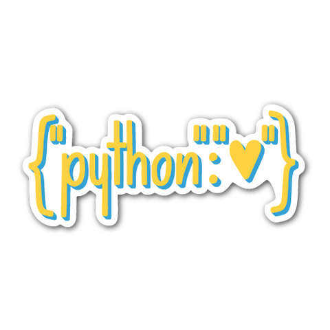 """Python Heart Dictionary"" Sticker"