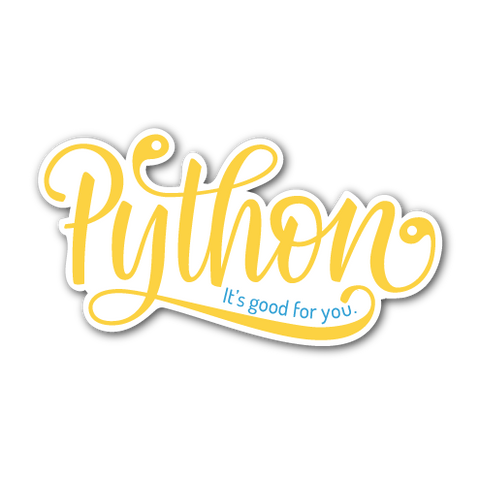 """Python: It's Good For You"" Sticker"