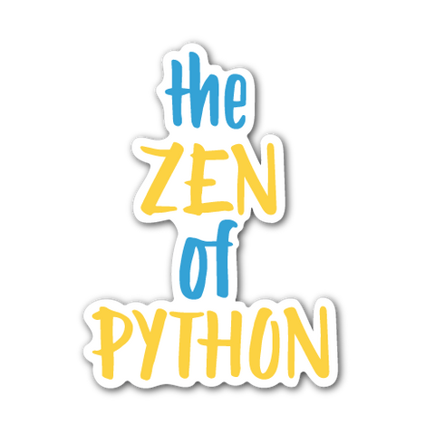 """The Zen of Python"" Sticker"