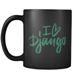 """I Love Django"" Mug (Black)"