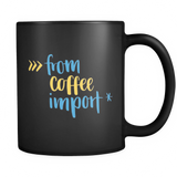 """from coffee import *"" Python Mug (Black)"