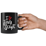 """I Love JavaScript"" Mug (Black)"