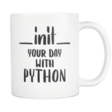 """__init__ Your Day With Python"" Mug"