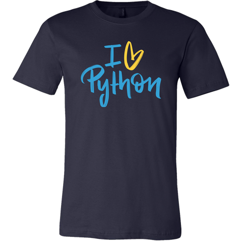 """I Love Python"" T-Shirt (Multiple Colors)"