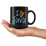 """I Love Java"" Mug (Black)"