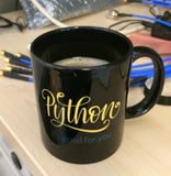 """Python: It's Good For You"" Mug (Black)"
