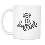 """Key To Survival"" Mug"