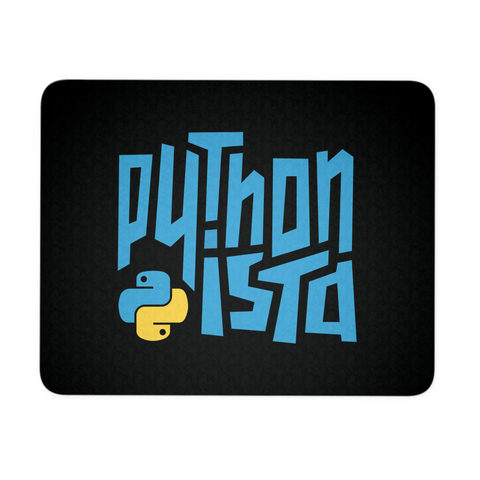 """Pythonista"" Mouse Pad (Black)"