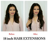 "18"" Clipped Synthetic heat fibre hair **Special price as discontinued - selling fast** - beauty spot warehouse"