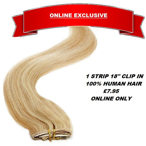 Bellisima Clip In Human Hair Strips - beauty spot warehouse