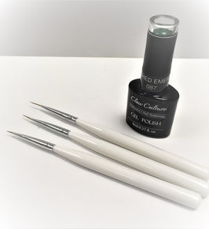 Nail art brushes - 3pcs - beauty spot warehouse