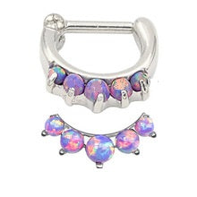 Fire Purple Synthetic Opal Hinge Clicker