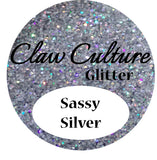 Nail Glitter Sassy Silver - beauty spot warehouse