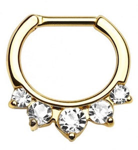 Gold Plated Crystal Hinged Clicker - beauty spot warehouse