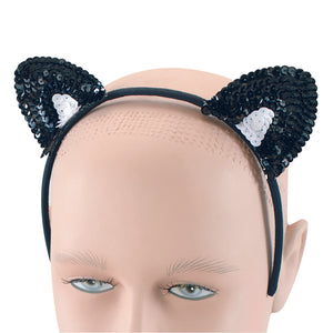 Halloween : Sequin cat ears