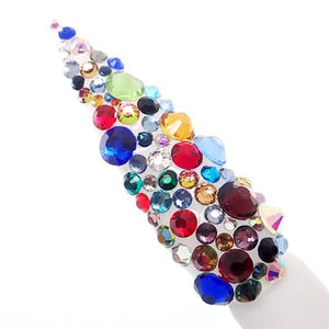 Multi Colour Genuine Italian Cristallo nail stones - beauty spot warehouse