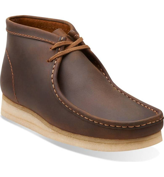 Clarks Brown Leather Wallabee