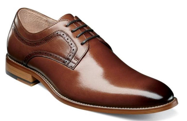 Stacy Adams Dickens Plain Toe Oxford Shoes Cognac 25231-221