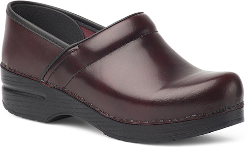 Womens Professional Clogs In Cordovan Cabrio Leather Dan Brothers