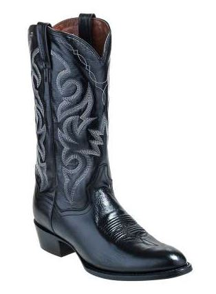 "Dan Post Black Leather Cowboy Boots ""DP2110"""