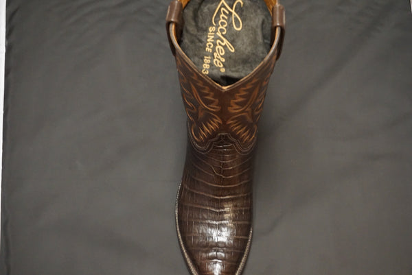 Lucchese Brown Croc Belly E2145.23