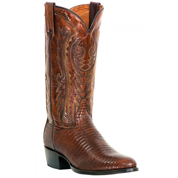 Dan Post Mens Cowboy Boots Antique Teju Tan Lizard Skin With R Toe