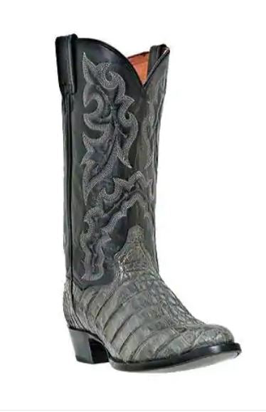 Men's Dan Post Boots Birmingham DP2395 Grey Flank Caiman Leather