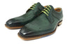 Jose Real Green Leather Lace up