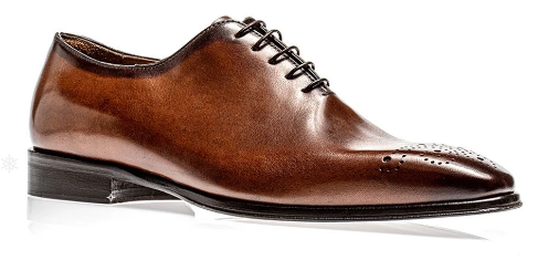 Jose Real Men's Italian Cognac Calf-skin Leather Oxfords A807