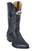 Los Altos Cognac & Black All-Over Genuine Hornback Crocodile J-Toe Cowboy Boots 1990103