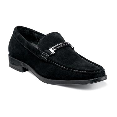 "Stacy Adams ""Nesbit"" Black Moc Toe slip on"