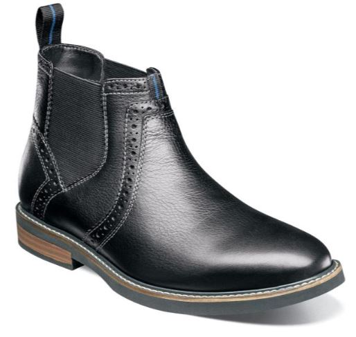 Nunn Bush Otis Black Plain Toe Chelsea Boot