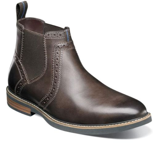 Nunn Bush Otis Brown Plain Toe Chelsea Boot