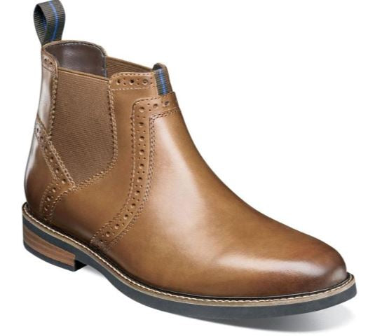 Nunn Bush Otis Tan Plain Toe Chelsea Boot