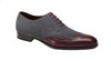Mezlan Paganini Burgundy/Grey Suede & Leather Wingtip shoe