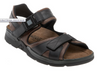Mephisto Shark Sandal Dark Brown